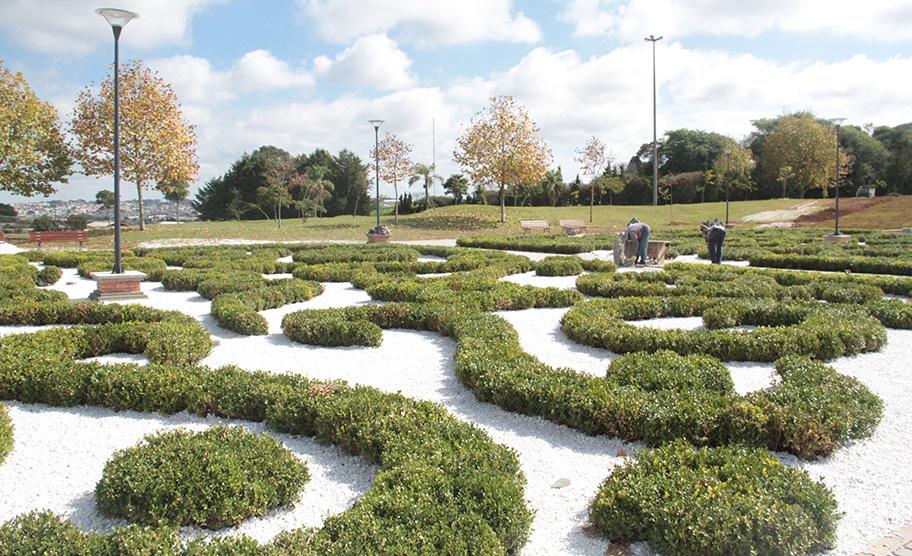aa43f6a56751b Jardim Europeu no Parque das Araucárias - Foto  Secretaria de Comunicação  Social   Prefeitura de Guarapuava