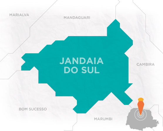 Mapa Jandaia do Sul