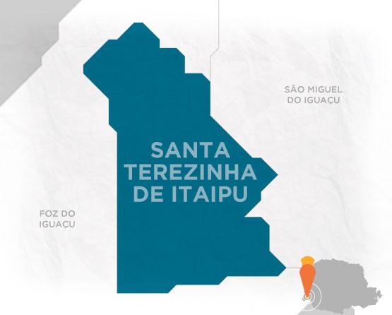 Mapa Santa Terezinha de Itaipu
