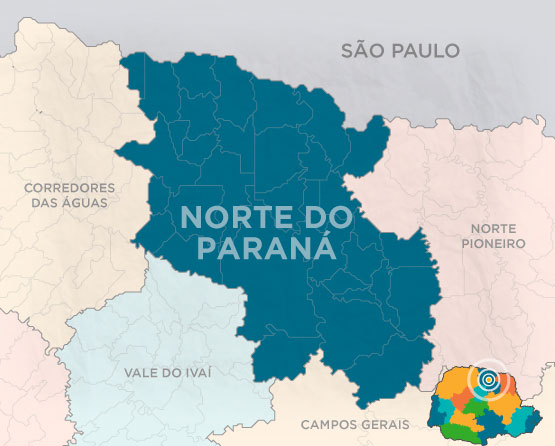 Mapa Norte do Paraná