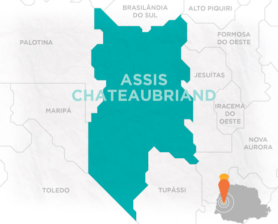 Mapa Assis Chateaubriand